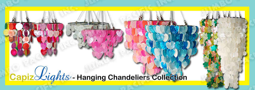 Hanging Capiz Chandelier Collection