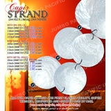 Capiz Strand - 1mm hole in, 1 feet long, 1.5mm thickness with 30 mm, 2.0 inch, 2.5 inch, 3.0 inch diameter small or big balls or with metal rings.