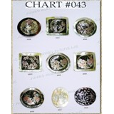 Chart Components #043 - Codes: #550, #551, #552, #553, #554, #555, #556, #557, #558