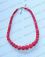 Graduated Colored Limestone Beads