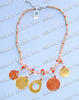 2-3mm Coco Heishe Combination with Shell Pendant